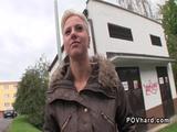 Blonde took cash for public sex