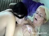 Tattooed Lesbo Teen Fucking Granny - Granny Videos