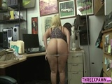 Big booty Nina Kay who has a huge tits bounces her ass in a horny cock