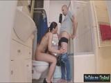 Nasty gf Regina analyzed in the bathroom