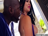 Lustful Jasmine Jae takes a black cock in her ass