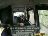 Soft tits woman banged in the taxi