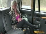 Gorgeous blonde passenger fucks a driver