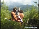 Extreme Outdoor DP Threesome - DP Videos