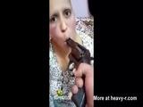 Battered Woman Humiliated At Gunpoint - Gun Videos