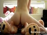 Girl Riding Teddy Bear - Teddy bear Videos