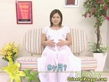 Pregnant Asian babe interview