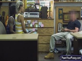 Amateur GF gets fucked at the pawnshop
