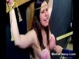 Crucifixion With Tits Torture - Tit torture Videos