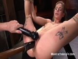Suspended Babe Toyed Hard - Hogtied Videos