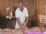 Massage beauty fingered and licked before bj