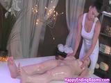 Massage beauty fingered by lesbian masseuse