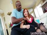 Beautiful Dani gives a bj and fucks Lex