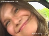 Teen Plays With Herself In Car - TEEN Videos