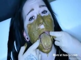 Smearing Shit On Face And Body - Scat Videos