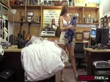 Naughty pawnman fucks a fabulous babe in the pawnshop