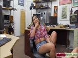 Beautiful babe Jessi fucks a pawndudes cock for money
