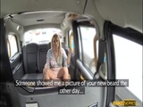 Sasha Steele gags a big cock in the cab