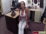 Slutty Latina babe gets a nice fuck from a horny pawnman