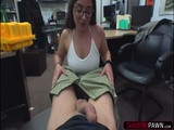 Busty brunette Charlie pounds a big cock