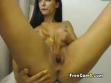 Hot Babe Shaved Pussy Masturbation