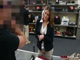 Business lady fucked by pawnshop keeper