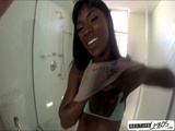 Black and white lesbo hotties sextape under the shower