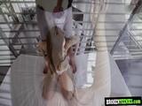 Blondie teen Ashlyn banged hard by a huge dick