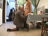 Husband watching his BBW wife Murielle gangbanged