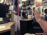 Gorgeous babe trades blowjob for cash