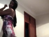 Busty Latina Babe Fucked In Doggy Style While Being Pulled