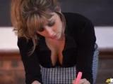 Blonde teacher downblouse