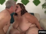Fabulously Fat Erin Green Has a Hard Cock Jammed in Her Mouth and Cunt