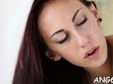 Hungry Dude Is Tasting Sweethearts Agreeable Shaved Pussy