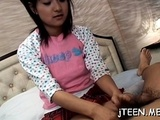 Hot Japanese Schoolgirl Gets Her Hirsute Wet Crack Toyed
