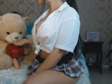 LATINA TEEN PLAYING WITH HER TEDDY BEAR CUM FAKE IN MOUTH