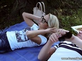 Gal Cumsprayed On A First Date