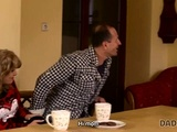 Daddy4k. Old Dad Cheats On Wife By Having Fun With Her Cute