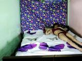 Indian Bhabhi Anita Singh In Red Lingerie Lifiting Her Legs