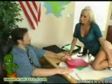 Hot blonde teacher fucks the principal after class