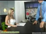 Hot blonde big titted boss fucks on of her employees