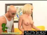Hot blonde MILF gets a doggystyle stuffing